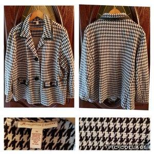 Dress jacket/ blazer 3xl black and white